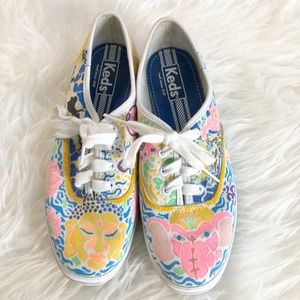 Women's keds hand drawn designed canvas shoes